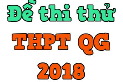 đề thi thử thpt quốc gia 2018