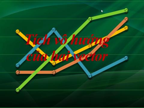 tích vô hướng của hai vector và ứng dụng